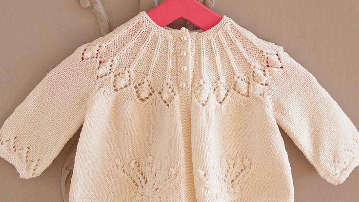 Free pattern: baby matinee jacket