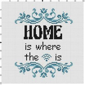 Hogar es Dónde está el wifi  Buen regalo de inauguración de la casa! Regalo de inauguración irónico para la persona amish en tu vida.  Moderno punto de cruz patrón está diseñado en cuenta 14 Aida. Se ejecutarán cerca de 5 x 7 y se verá impresionante en un marco de 8 x 10 con un mate o un marco de 5 x 7.  Este modelo vendrá con 2 patrones de diferente tamaño a todo color, para mayor comodidad de visualización o impresión y un poco consejos y listado de trucos que te ayudarán en tu búsqueda de…