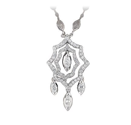 Happy Halloween from Peter Norman Jewelers!! Check out this spider web necklace!