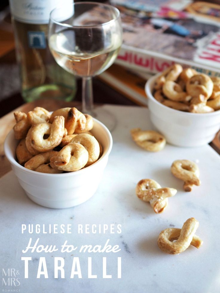 Food that takes you travelling – how to make taralli from Pulgia, Italy.