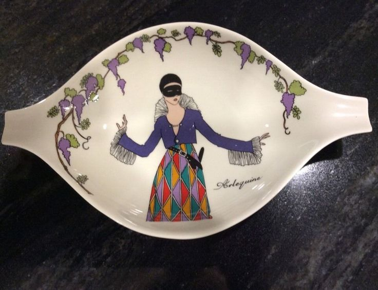 Villeroy & Boch Design 1900 Arlequine Pickle Candy Dish NEW, NEVER USED,DISPLAY #VILLEROYBOCH - 35 dollars buy it now