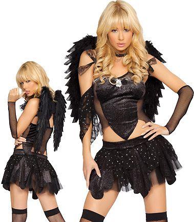 Four Piece Tinkabella Costume - Sparkle Knit Strapless Corset - angel halloween costume ideas