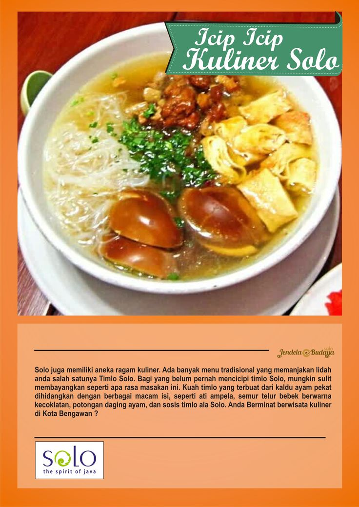 Poster Timlo Food