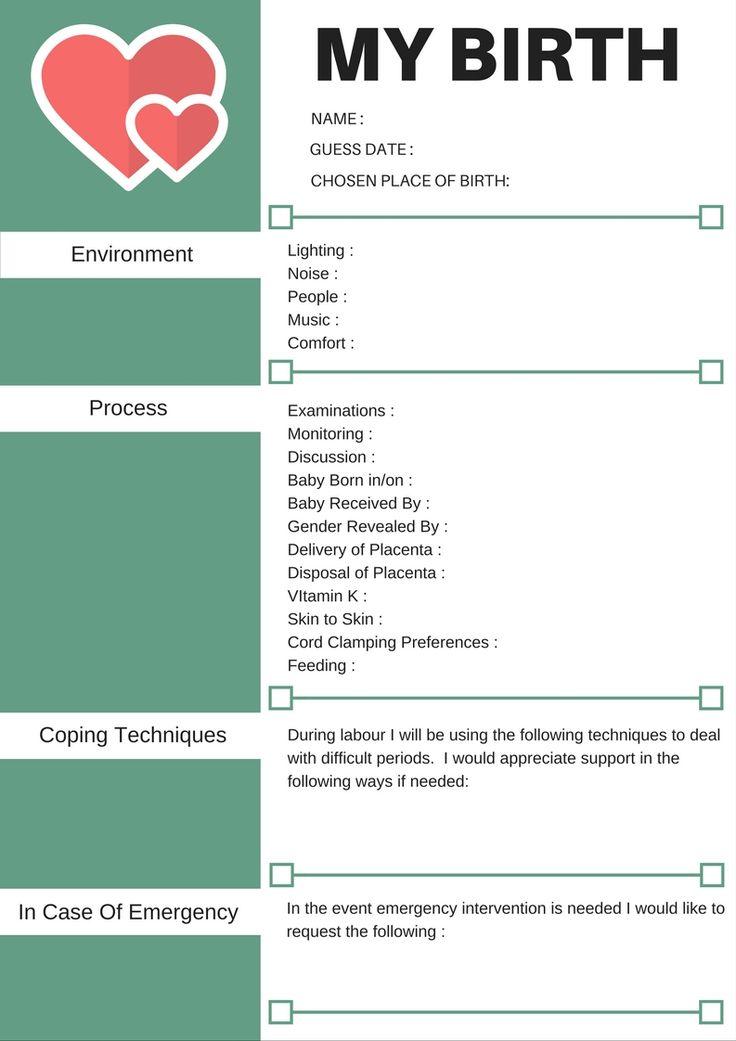 The 25+ best Birth plans ideas on Pinterest Birthing plan - birth plans