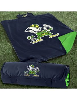 Product: Notre Dame Leprechaun All-Weather Blanket