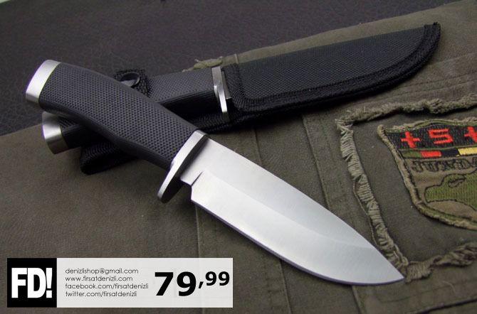 Kampçılar ve maceracılar için çok şık bir bıçak  Plastik saplı, sabit (katlanmaz), paslanmaz çelik bıçak...  Toplam uzunluk: 22,3 cm Bıçak uzunluğu: 9,5 cm Bıçak kalınlığı: 3,8 mm Net Ağırlık: 210 gr  Fiyatı: 79,99 TL  Dikkat:   * Bıçağı kullandıktan sonra hemen yıkayın ve kuru bir bez ile kurulayın, * Keskinliğini parmağınız ile test etmeyin, * Bıçağı çocukların ulaşabileceği yerden uzak tutun. #bicak #kamp #av #bicagi