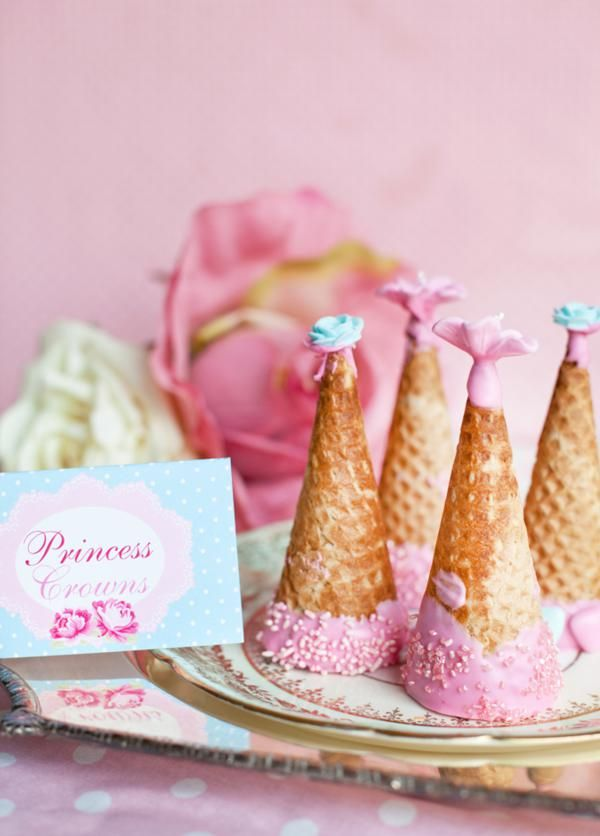 Shabby Chic Princess Tea Party / Birthday Party via Kara's Party Ideas - www.KarasPartyIdeas.com #princess #party #ideas #tea #planning