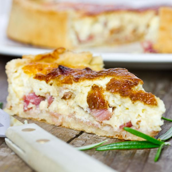 Quiche Lorraine Shannon made with Swiss. Could not find gruyere