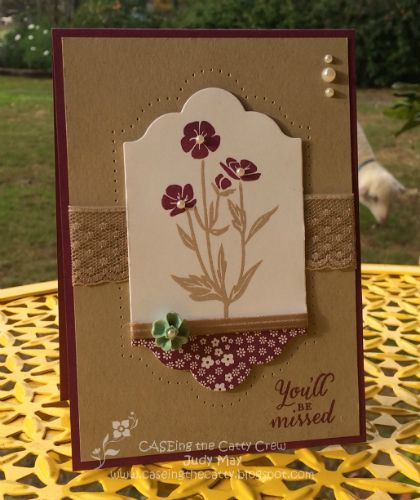 Stamping Up Wild About Flowers. Judy May, Just Judy Designs
