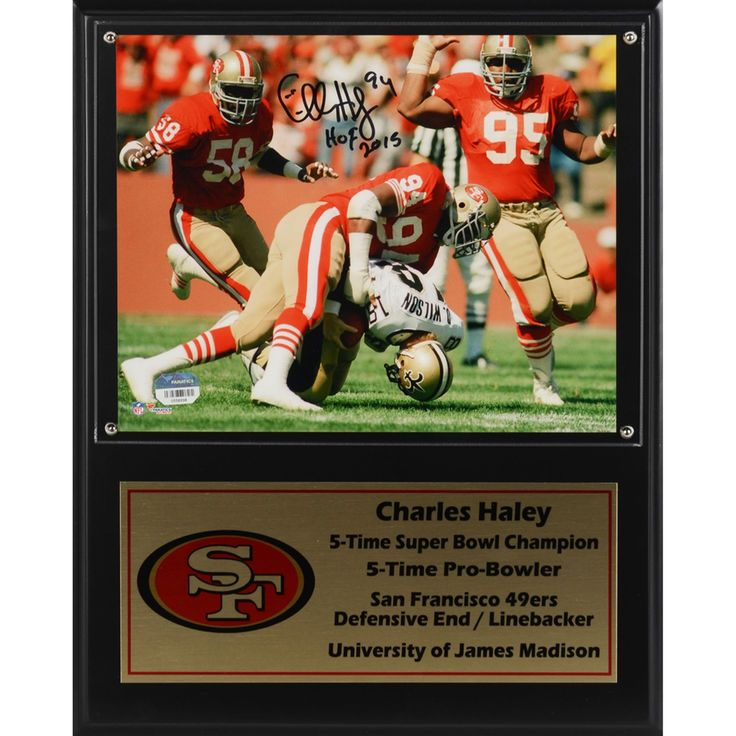 Charles Haley San Francisco 49ers Fanatics Authentic Framed Autographed 12'' x 15'' Career Stats Plaque - $154.99