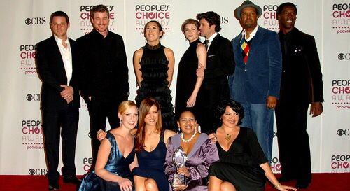 Grey's Anatomy cast at People's Choice Awards.
