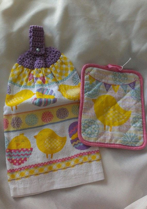 Hey, I found this really awesome Etsy listing at https://www.etsy.com/listing/184122221/easter-crochet-hanging-hand-towel-set