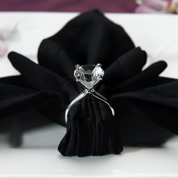 Silver Plated Diamond Napkin Holders (Pack of 4)