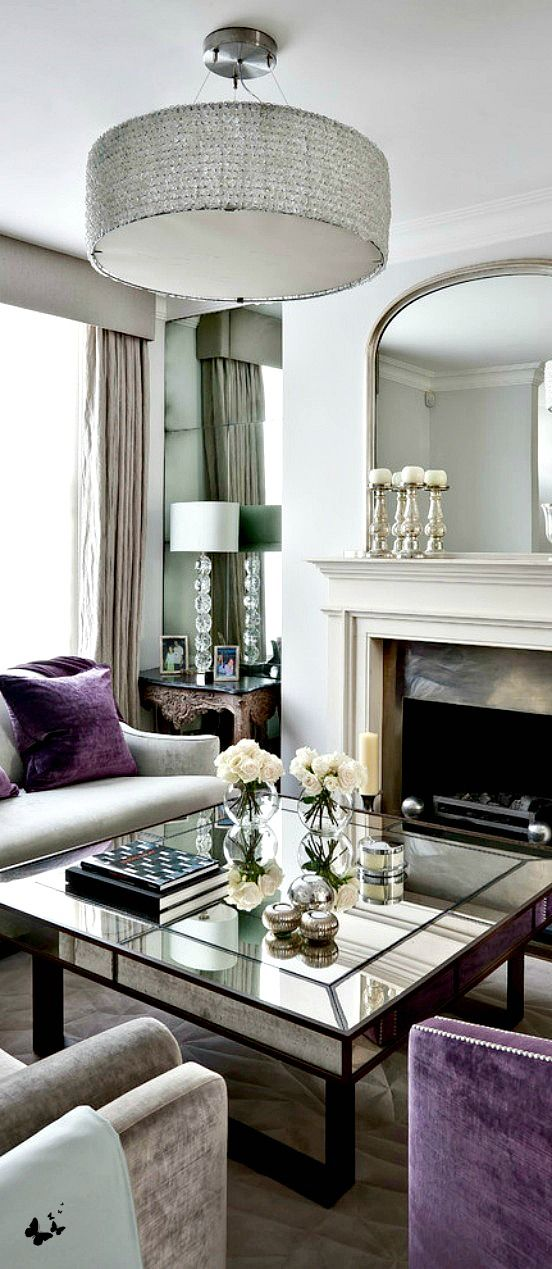 Purple And Grey Works Nice Drawing Room Kensington