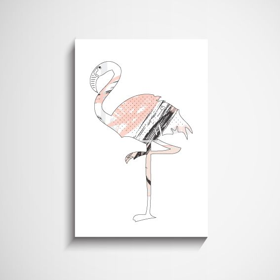 Pretty Flamingo Scandinavian Wall Art Print #Scandinavian #painting #wallart #Nordic #BuyOnline #sydney #australia #Buywallart #buypaintings #buypaintingsonline #livingroomwallart #bedroomwallart #wallpaintings #ScandinavianArt #ScandinavianArtonline #ArtClub #decor8or #decor8oronline