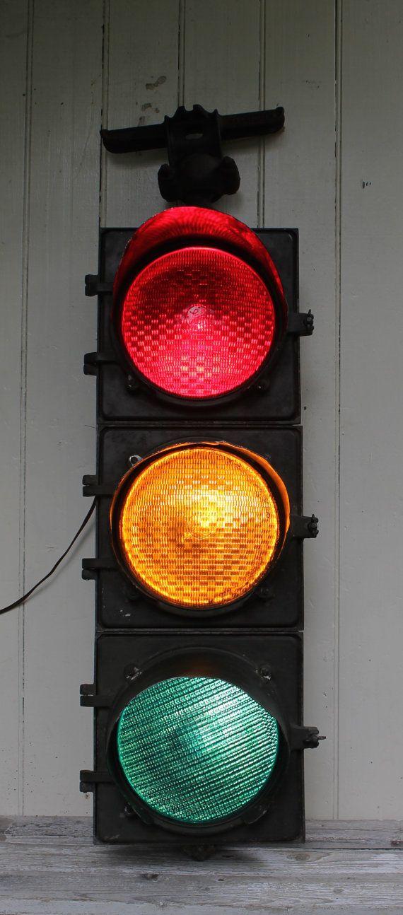 Vintage Working GE Traffic Light // Schenectady New York by MyBarn