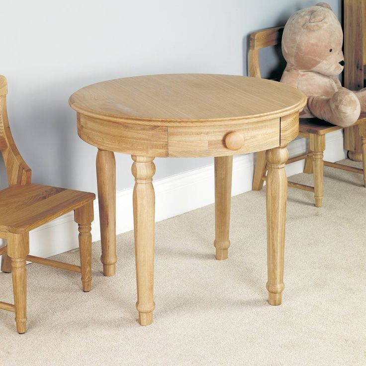 Amelie Solid Oak Children's Play Table -  - Bedside Table - Baumhaus - Space & Shape - 1