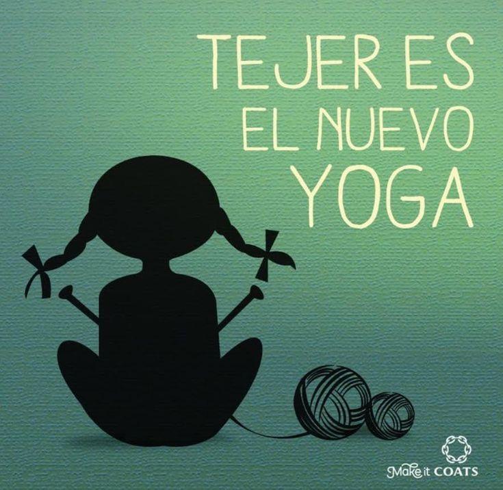 Resultado de imagen para tejer es el nuevo yoga