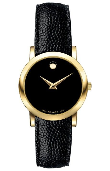 Movado Women's Museum watch. Classic. (I have vowed that one day I will own this model watch.  I will most likely buy it secondhand)