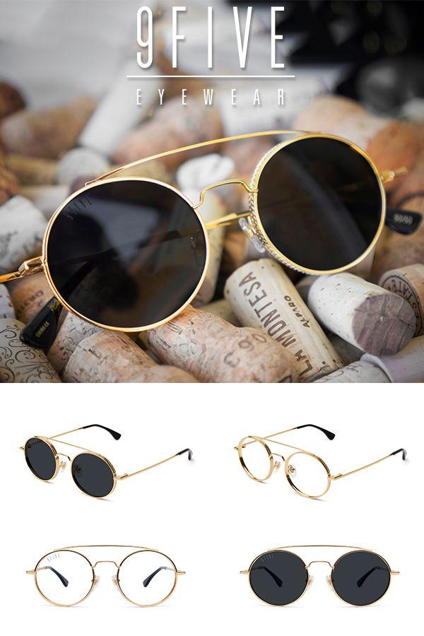 bce8f4d55 9FIVE 50-50 24K Gold Round Sunglasses in 2019 | Ads | Sunglasses ...