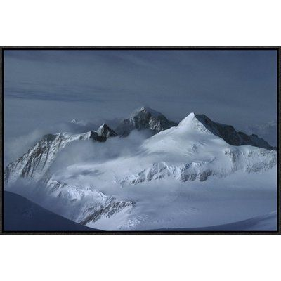 """East Urban Home 'View at Midnight from Vinson Massif' Framed Photographic Print on Canvas Size: 20"""" H x 30"""" W x 1.5"""" D"""