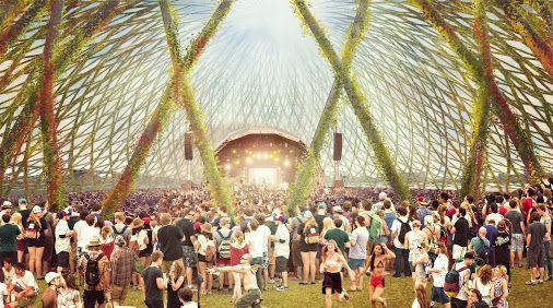 UNA CUPOLA VERDE Studio di architettura di New York Dror ha presentato una nuova visione per l'isola di di Montreal Saint Helen, che dispone di una splendida e verde cupola geodetica situata opposto della iconica della Biosfera di Buckminster Fuller.  Avvolto in un fitta vegetazione, l'ampia cupola  offre uno spazio di ritrovo per tutto l'anno, che può ospitare festival, concerti, mercati alimentari, e altro ancora.