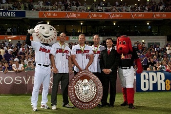 Owen Reid. As Operations Manager of the Perth Heat, Australia, 2012.  Owen spent the 2009, 2010 summers in Austria and 2010 winter in New Zealand.