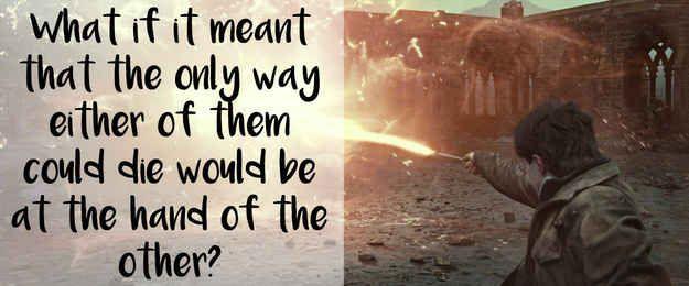 This brilliant theory, regarding Professor Trelawney's prophecy: