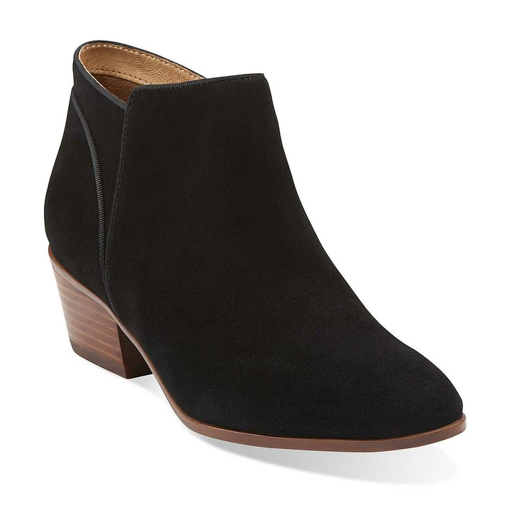 spye hale in black suede womens boots from clarks