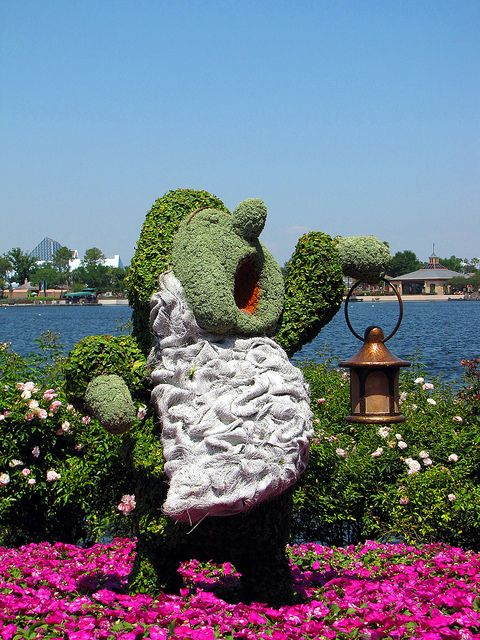 Sleepy topiary at #DisneyWorld #Epcot International Flower and Garden Festival