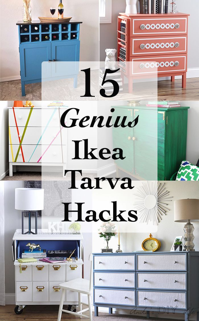 15 Amazing and genius DIY Ikea Tarva dresser hacks to inspire you