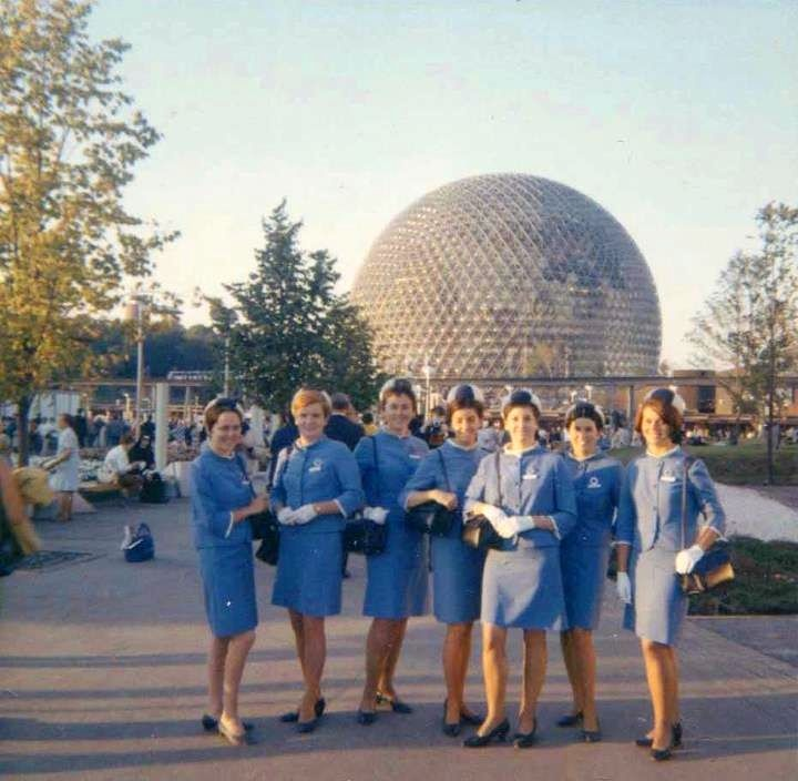 A group of Expo hostesses