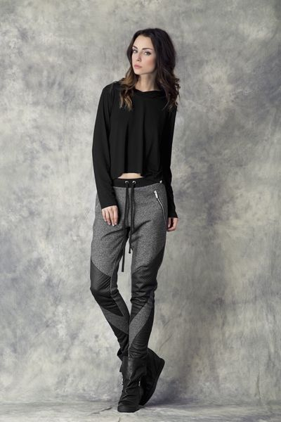Silver Zip Trousers