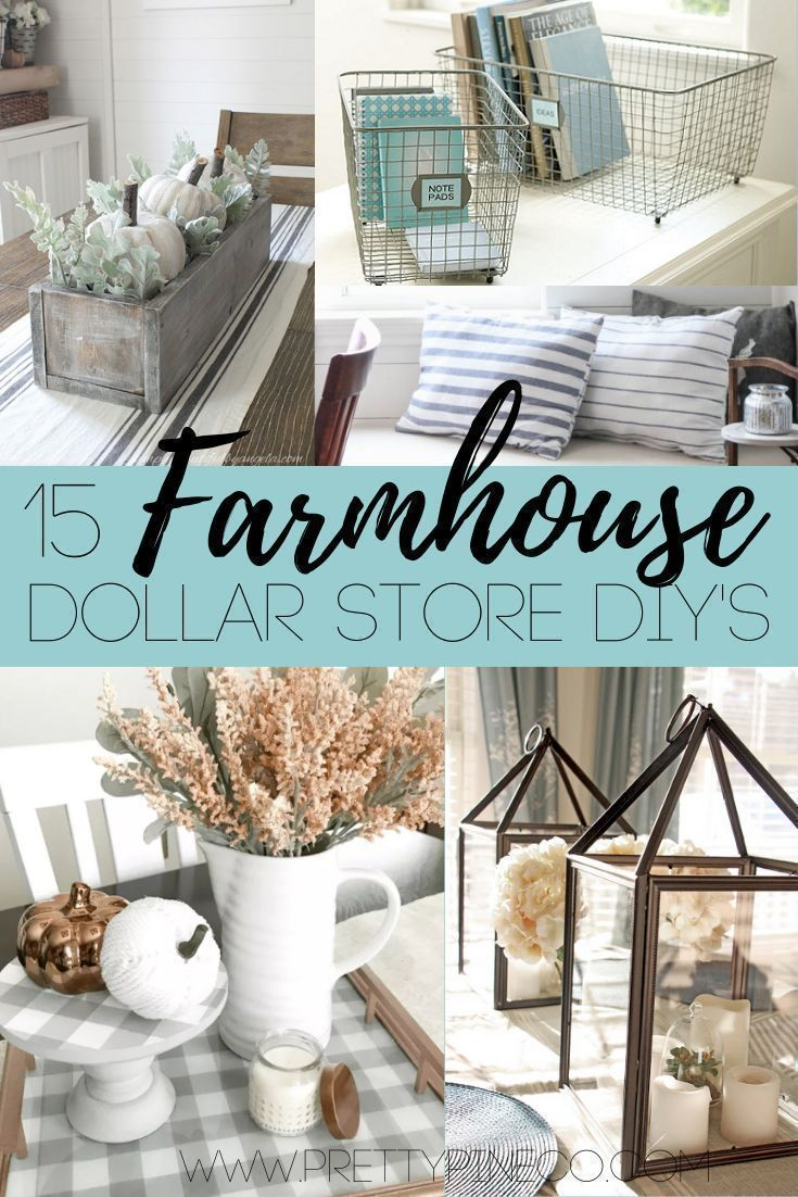 15 Farmhouse Dollar Store DIY Hacks