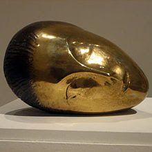 Constantin Brancussi http://1.bp.blogspot.com/-n0JAN9-Nokw/UI1jumo2lyI/AAAAAAAACsA/GU8_okrjogU/s400/220px-%27Sleeping_Muse%27,_bronze_sculpture_by_Constantin_Brancusi,_1910,_Metropolitan_Museum_of_Art.jpg