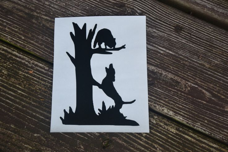 Coon Hunting Dog Treeing Coon Decal by BarkIt on Etsy https://www.etsy.com/listing/471682645/coon-hunting-dog-treeing-coon-decal