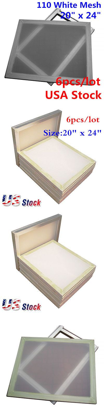 Screen Printing Frames 183114: Us Stock! 6 Pcs Lot- 20 X 24 Aluminum Screen With 110 White Mesh -> BUY IT NOW ONLY: $81.77 on eBay!