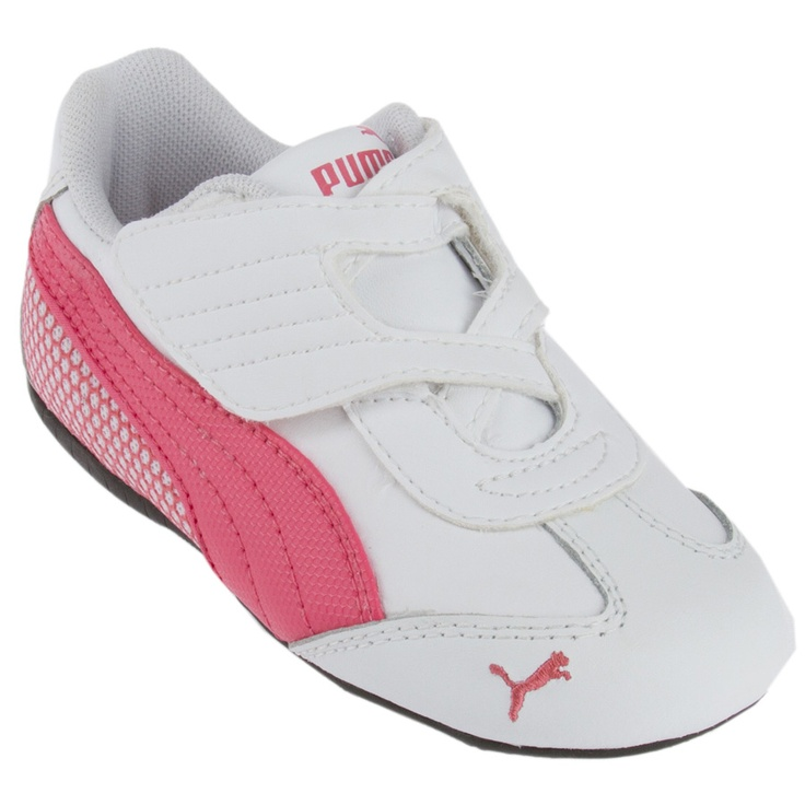 Grils Puma Jiyu 2 White and Pink Leather Athletic Shoes, toddler/child size 5, with velcro closures. Shoes are used but are in good paydayloansboise.gq soles have minimal wear .
