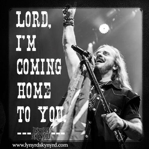 """Sweet Home Alabama"" lyric card"