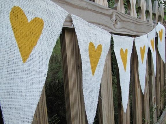 burlap banner - bridal shower