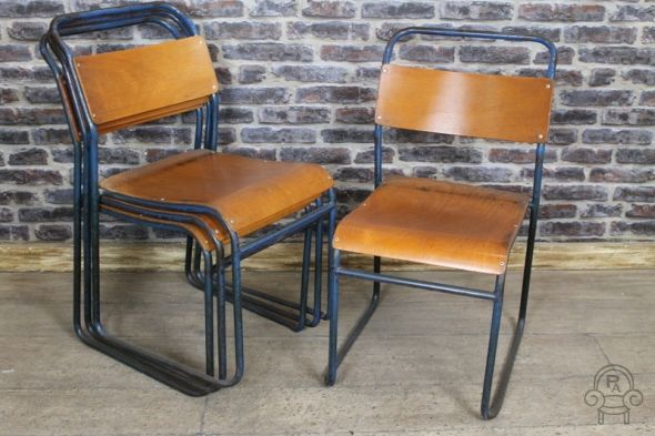 Original vintage stacking chairs! We have 100s of stacking chairs in stock, in a variety of styles. Browse our website to see the whole range!