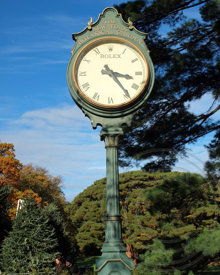 Rolex Clock At The New York Botanical Garden, Bronx, New York City | By