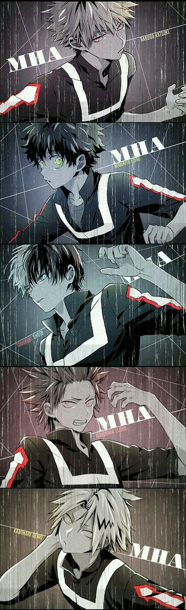 Boku No Hero Academia  ||  Males of Class 1A  They are all hot in their own ways! My bias ish TODOROKI!