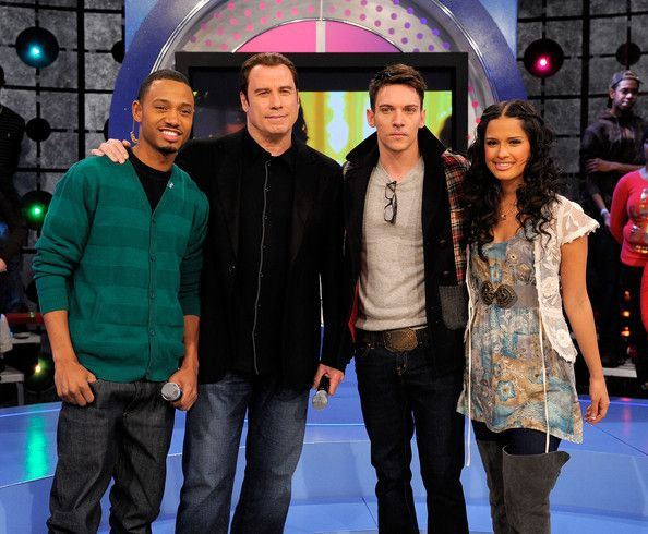 "john rhys meyers | Roxy and Jonathan Rhys Meyers - John Travolta Visits BET's ""106 & Park ..."