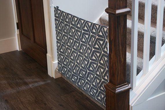 Canvas baby gate  /  Fabric baby gate Custom fabric by sewamelie