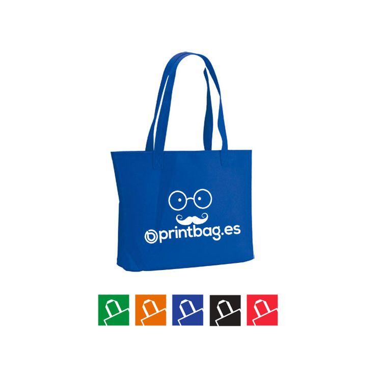 Bolsas personalizadas para regalos y comercios fabricadas en fieltro color azul
