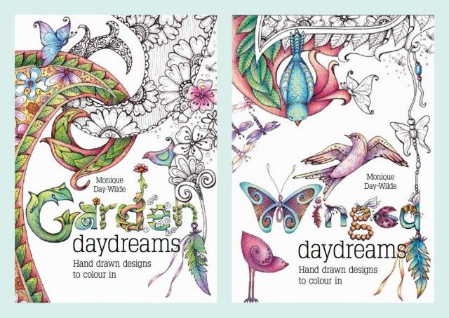 Colouring in books by Monique Day-Wilde