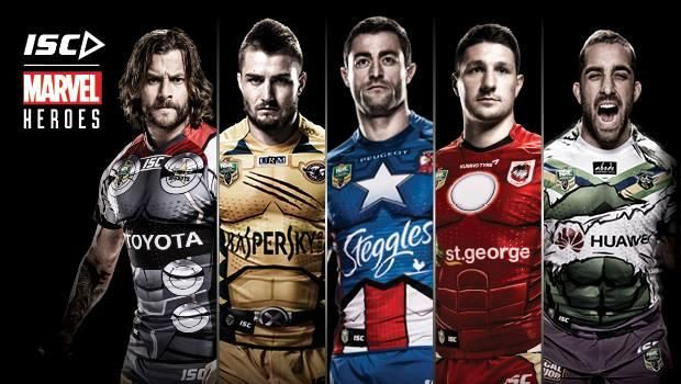 On Rugby Hulk, Thor, Wolverine, Iron Man, Capitan America: tutti nella NRL » On Rugby