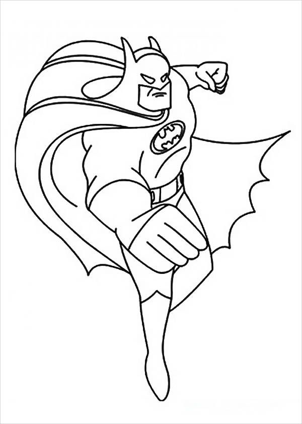 Batman Cape Coloring Pages Batman Warna Gambar