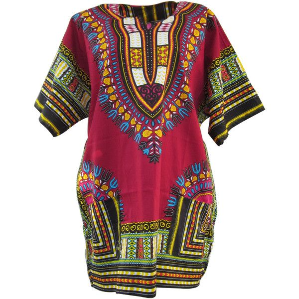 Red African Dashiki,Red Dashiki Shirt, Unisex Top Dress, Plus Size... ($22) ❤ liked on Polyvore featuring dresses, tops, tees, hippy dress, plus size hippie dresses, purple dress, plus size purple dress and women plus size dresses